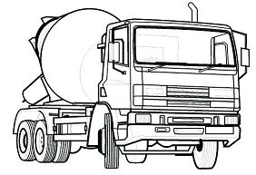 Cement mixer truck coloring pages - Hellokids.com | 193x282