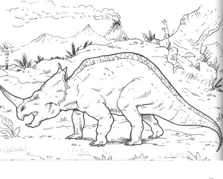 Centrosaurus Lambe Coloring Page