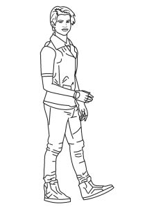 Chad Charming Coloring Page