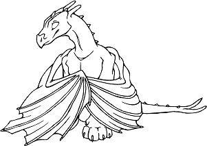 Challenge Baby Dragon Coloring Page