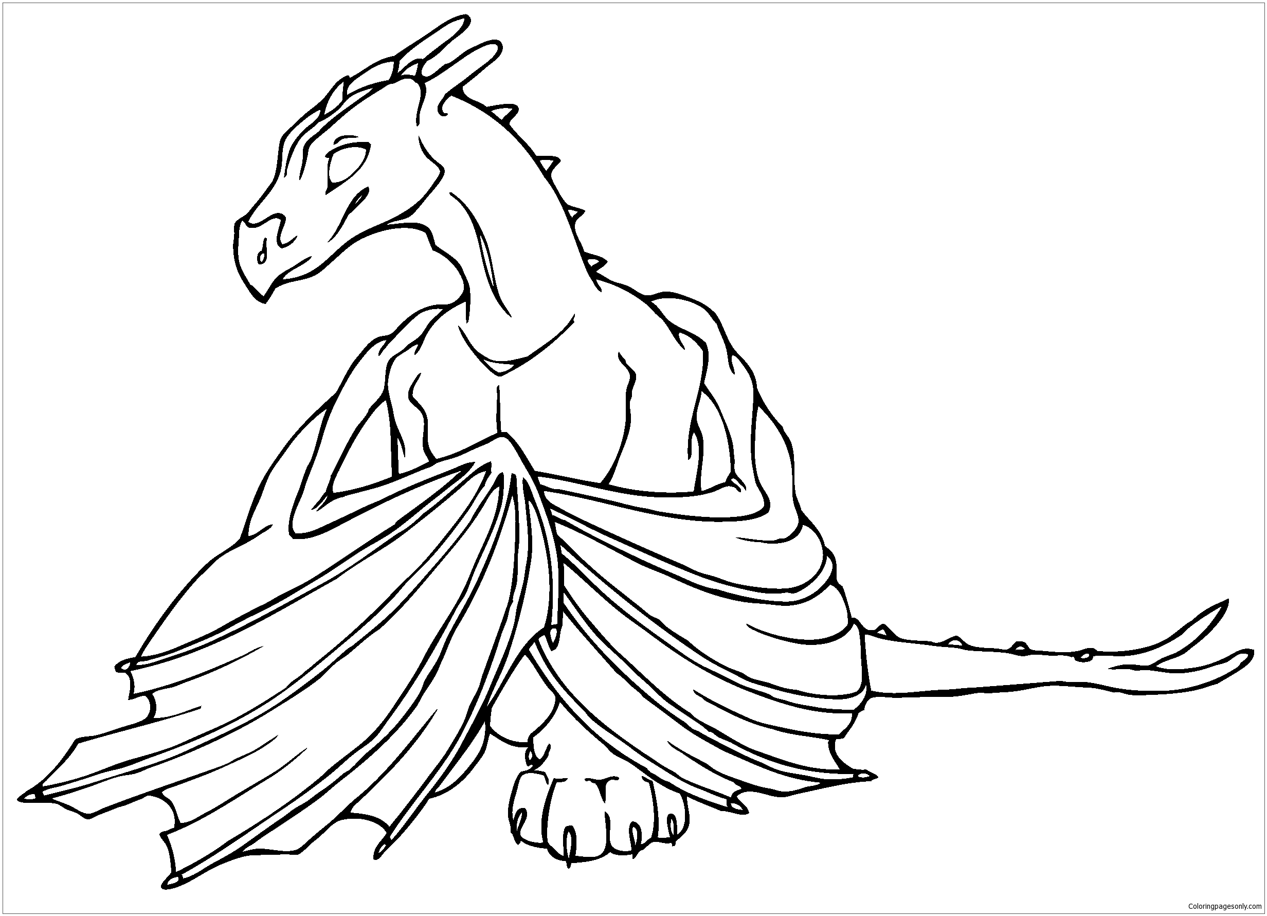 Challenge Baby Dragon Coloring Page - Free Coloring Pages Online