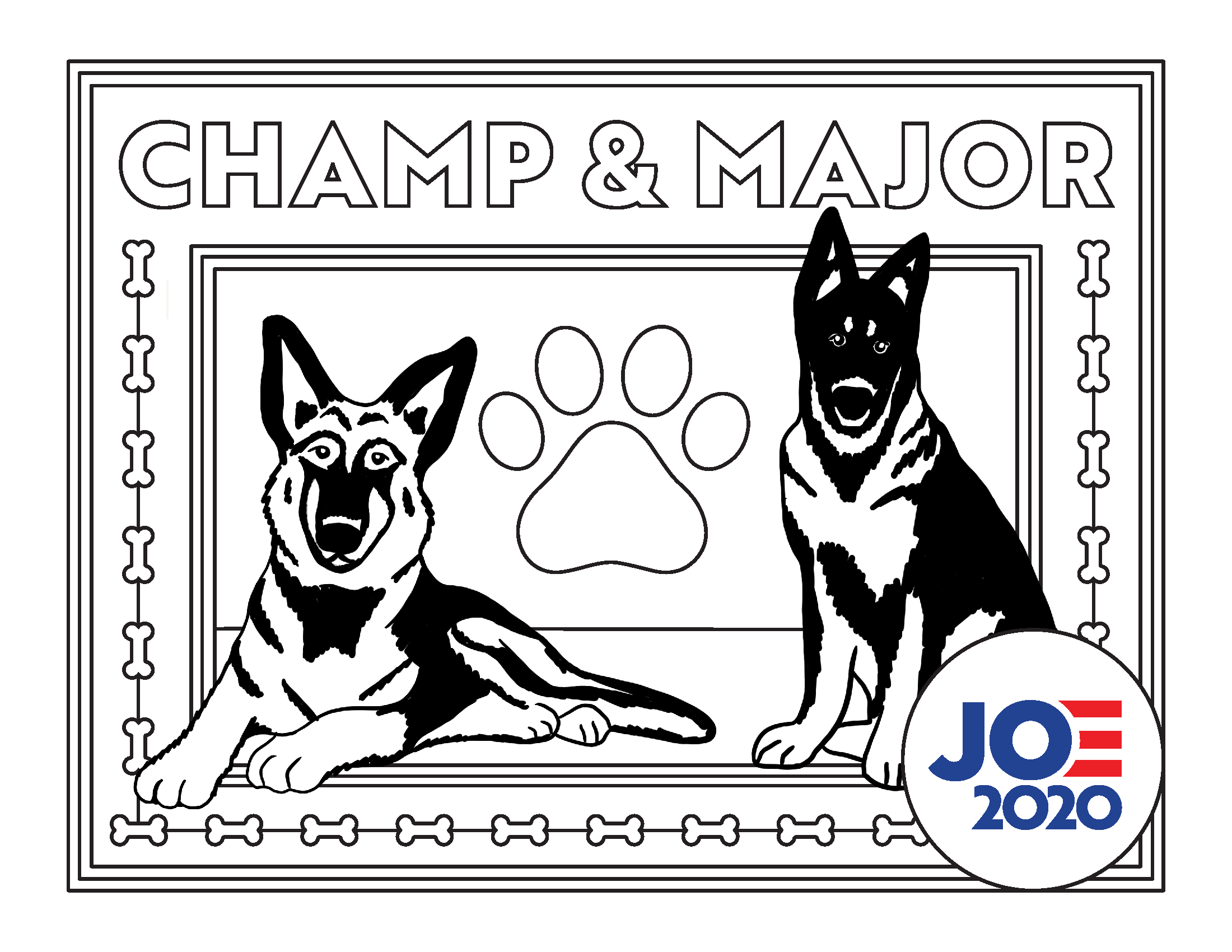 Champ and Major Coloring Page