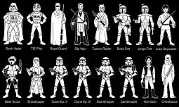Characters Star Wars Coloring Page