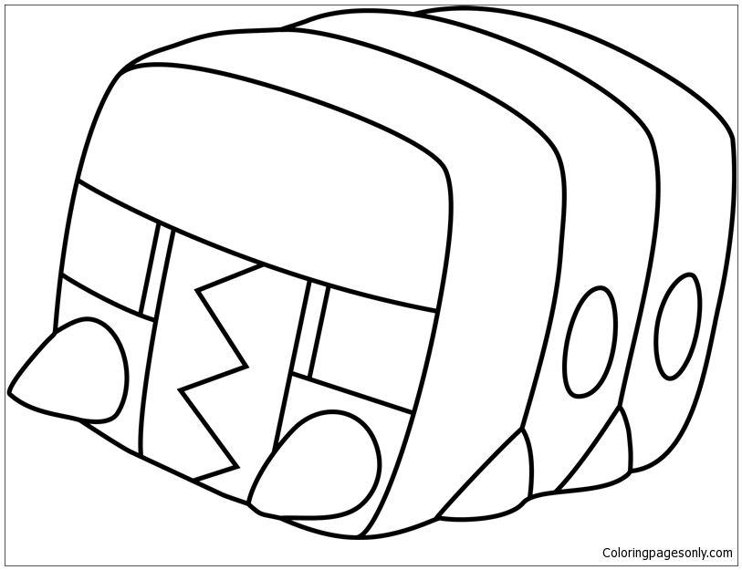 Charjabug Pokemon Sun And Moon Coloring Pages - Cartoons Coloring Pages -  Free Printable Coloring Pages Online