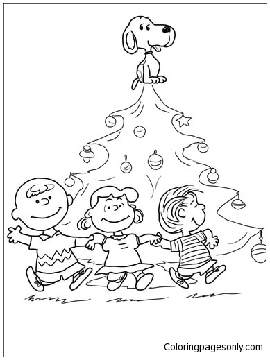 Charlie Brown Christmas 1 Coloring Page