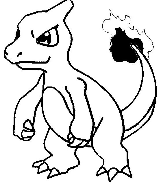Charmeleon Coloring Page
