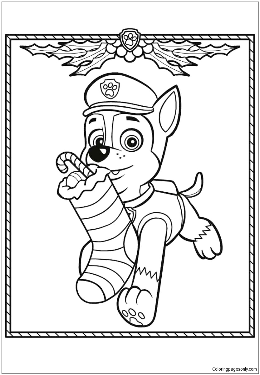 Chase And Skye Paw Patrol Coloring Pages - Cartoons ...