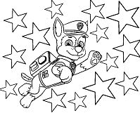 Chase And The Stars Coloring Page