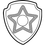 Chase Badge From Paw Patrol Coloring Page