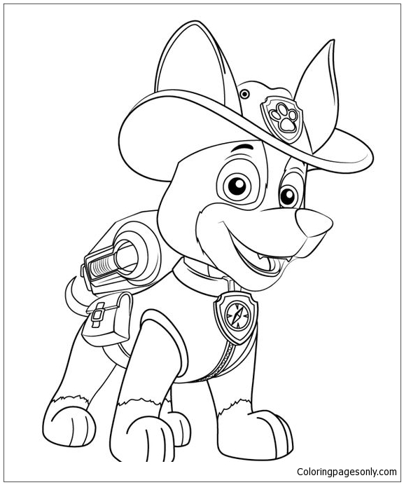 Chase From Paw Patrol Coloring Page Free Coloring Pages