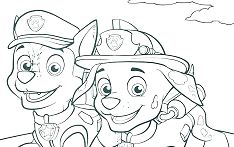 Chase Paw Patrol 1 Coloring Page