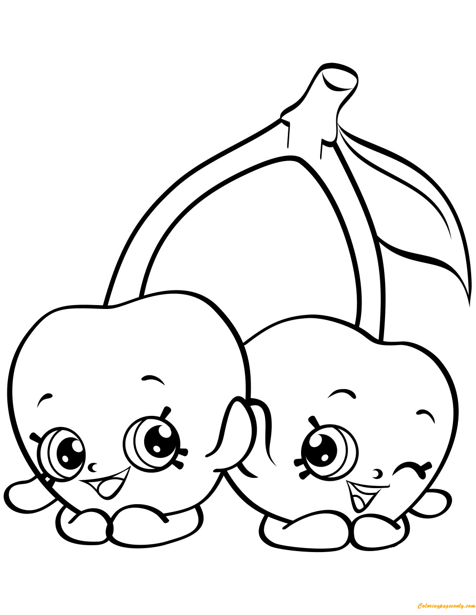 Cheeky Cherries Shopkin Season 4 Coloring Page Free
