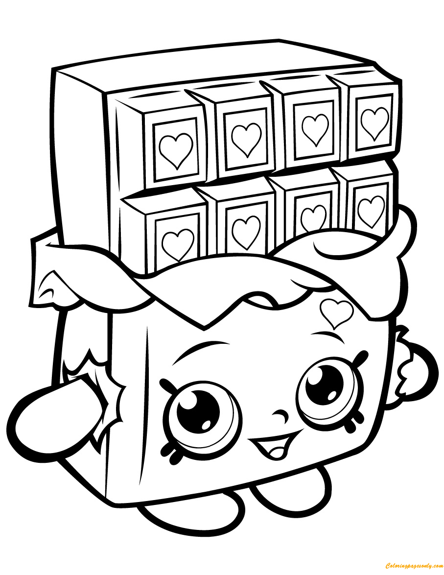 Cheeky chocolate shopkin season 1 coloring page free for Lipstick shopkins coloring page