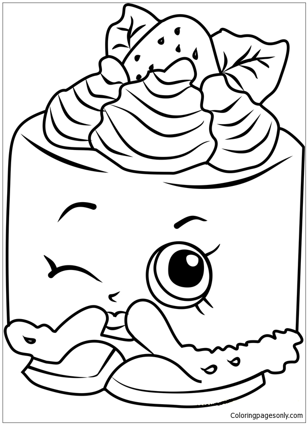 Cheese Louise Shopkins Coloring Page - Free Coloring Pages Online