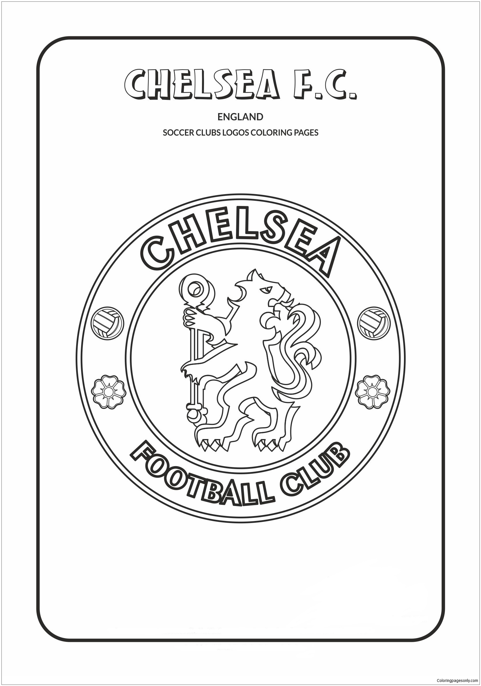 Chelsea F C Coloring Pages Soccer Clubs Logos Coloring Pages Free Printable Coloring Pages Online