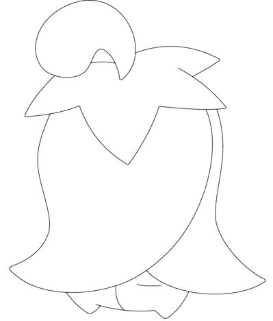 Cherrim In Overcast Form Coloring Page