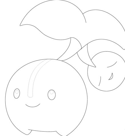 Cherubi Pokemon Coloring Page
