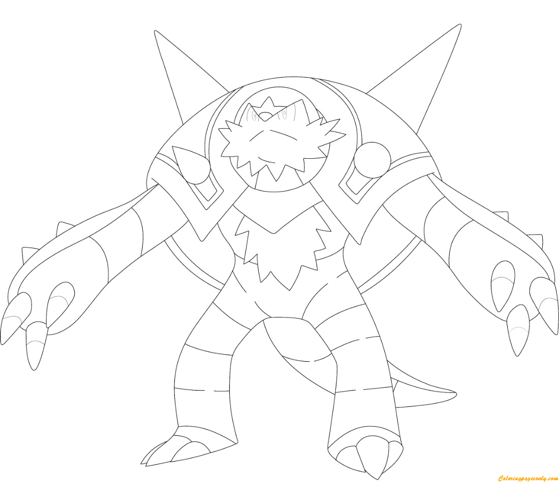Chesnaught Pokemon Coloring Page Free Coloring Pages Online