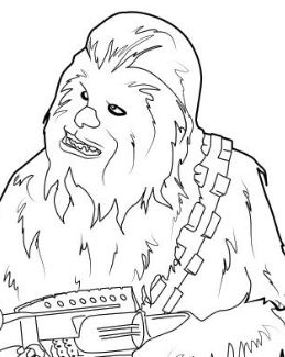 Chewbacca Star Wars Coloring Page
