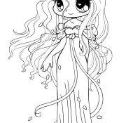 Chibi Anime 1 Coloring Page
