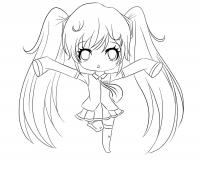 Chibi Anime 10 Coloring Page
