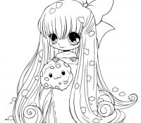 Chibi Anime 2 Coloring Page