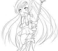 Hatsune-Miku-Chibi Coloring Page