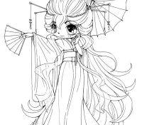 Chibi Anime Of Chibi Anime Coloring Page