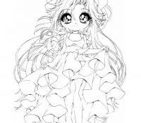 Chibi Anime Colouring Pages Coloring Page