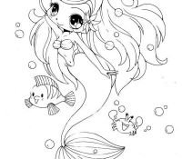 Cute Chibi Anime Coloring Page