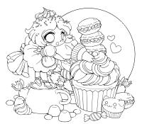Chibi Anime Kawaii Coloring Page