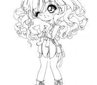 Chibi Anime 5 Coloring Page