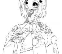 Chibi Anime 6 Coloring Page