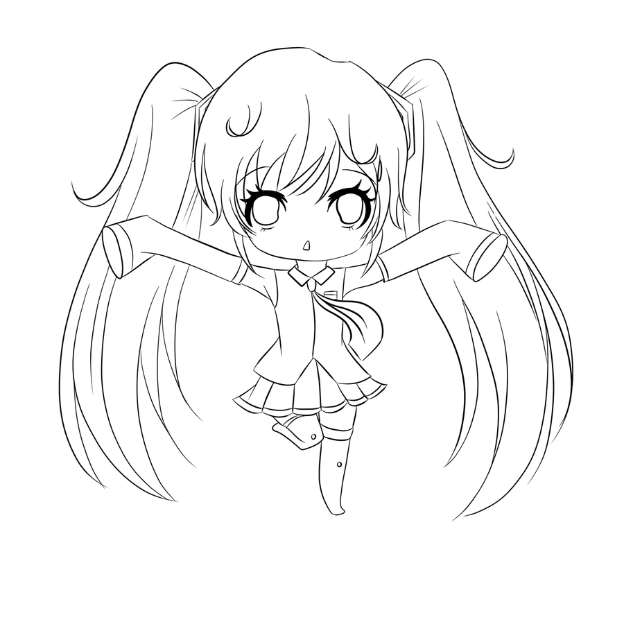 Chibi Anime 10 Coloring Pages