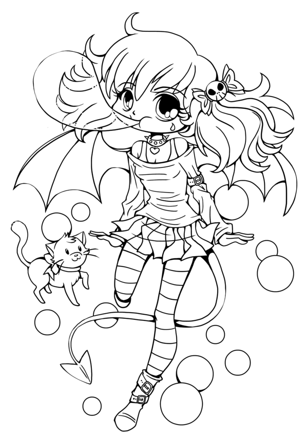 Chibi Anime 12 Coloring Pages