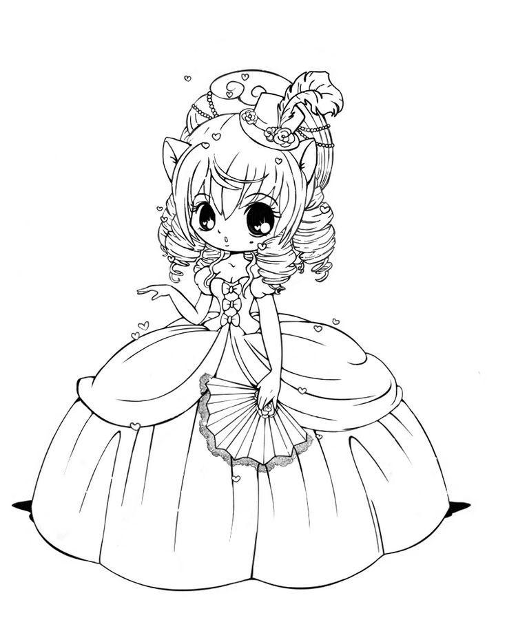 Princess Chibi Anime Coloring Pages
