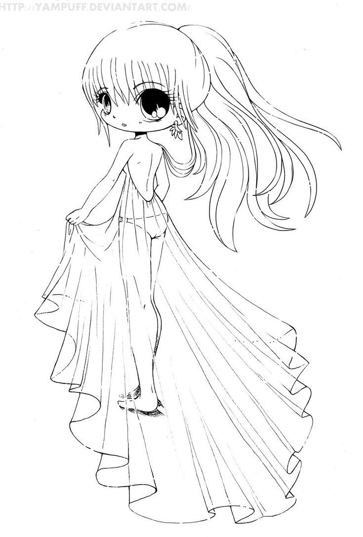 Cute Chibi Coloring Pages To Print Coloring Pages