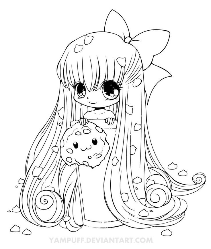 Chibi Anime 2 Coloring Pages