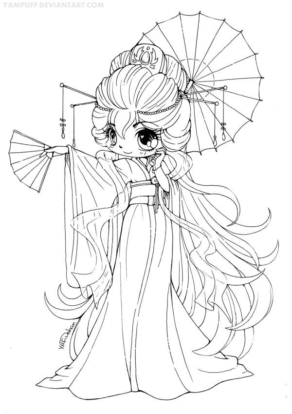 Chibi Anime Of Chibi Anime Coloring Pages