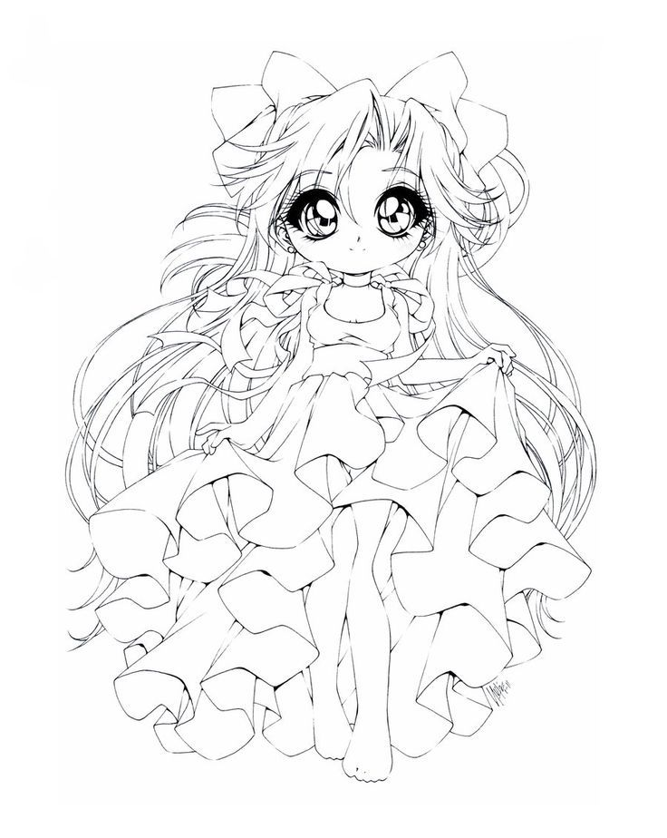 Chibi Anime Colouring Pages Coloring Pages