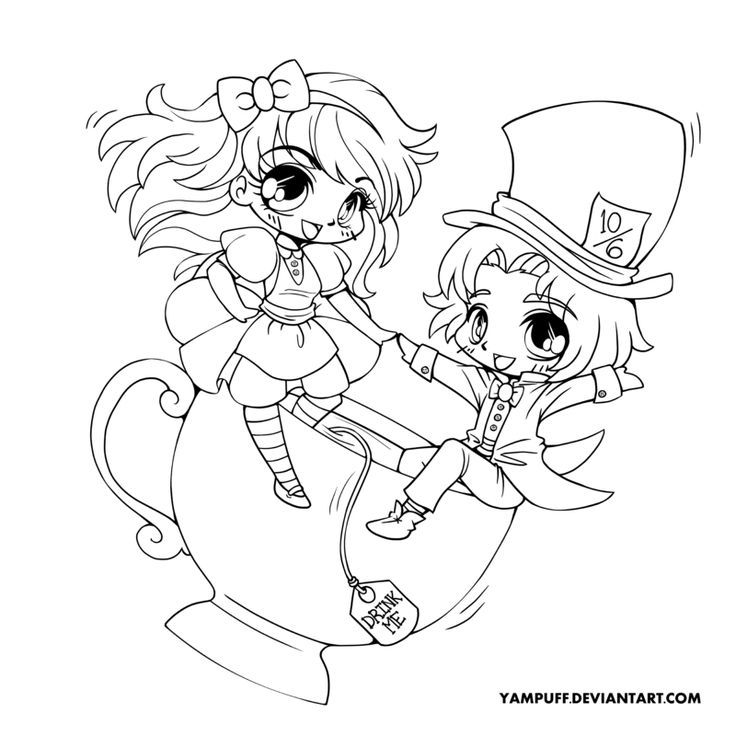 Chibi Anime 3 Coloring Pages