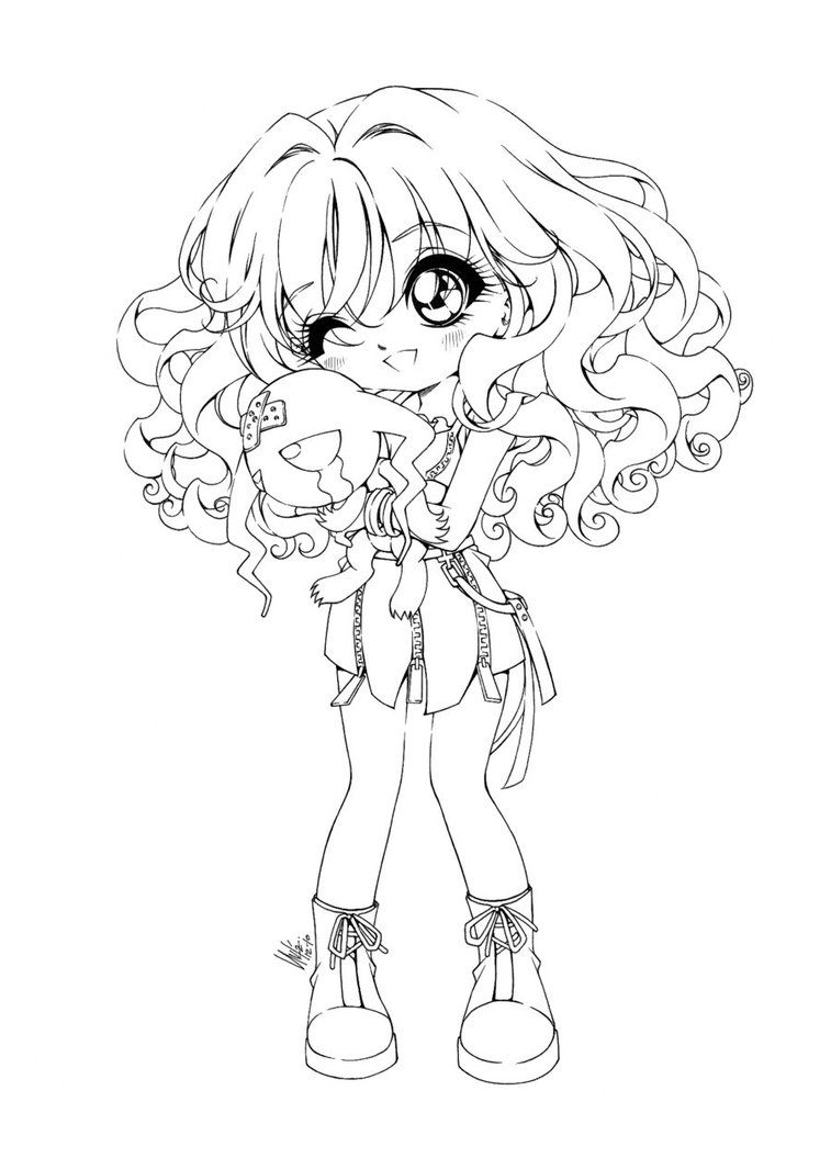 Chibi Anime 5 Coloring Pages