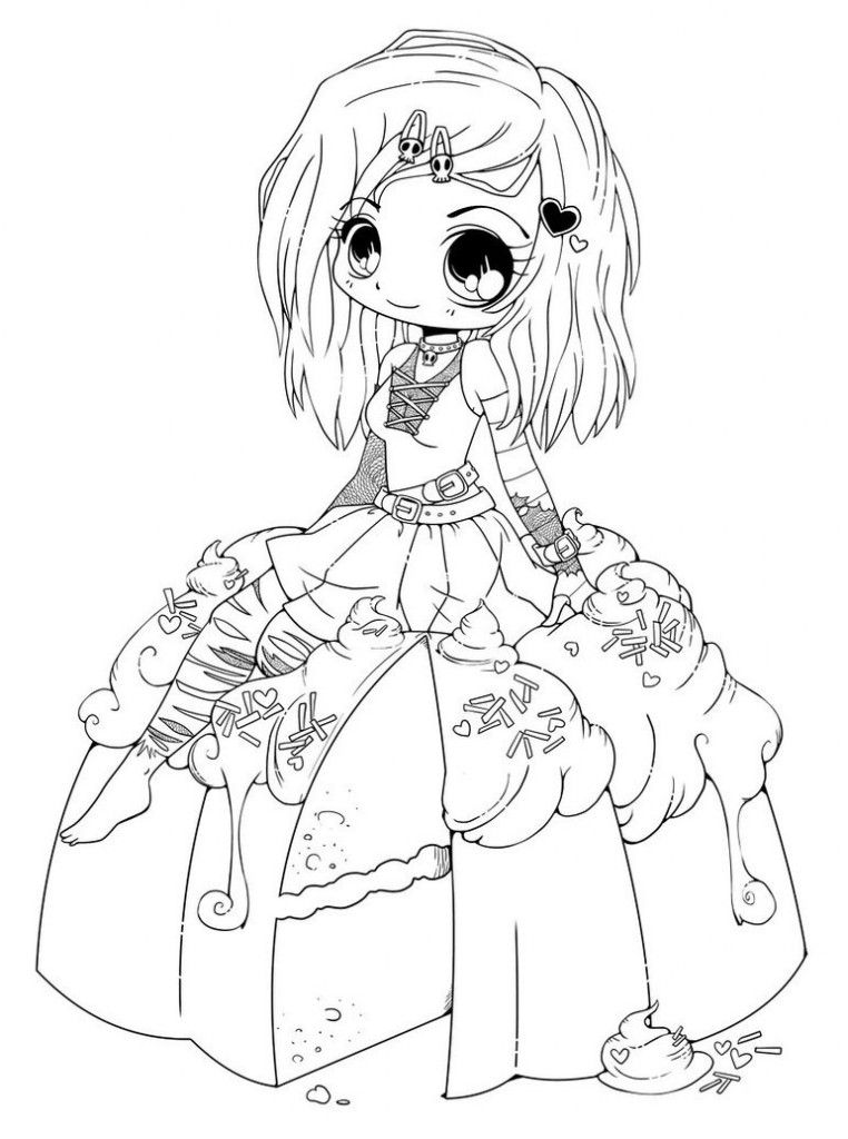 Chibi Anime 6 Coloring Pages