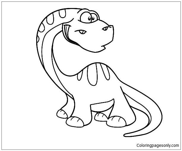 Chibi Diplodocus Coloring Page
