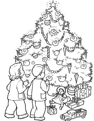 Children Christmas Gifts And Christmas Tree Christmas
