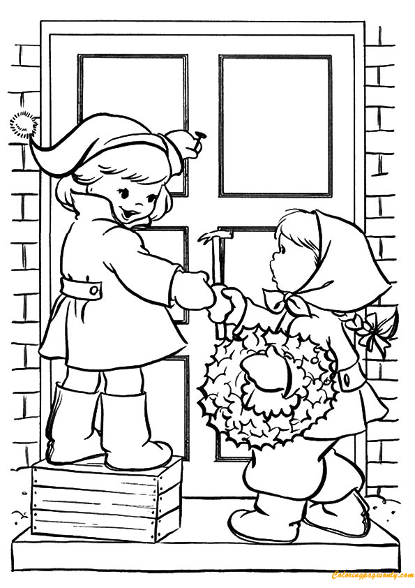 decorated kids coloring pages - photo#10