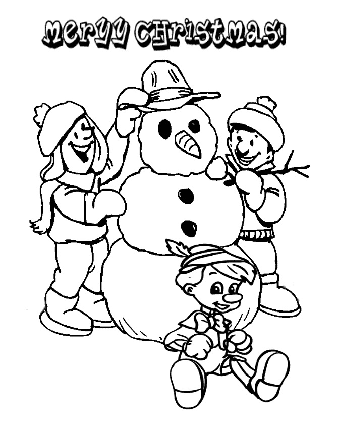 Children Making Christmas Snowman