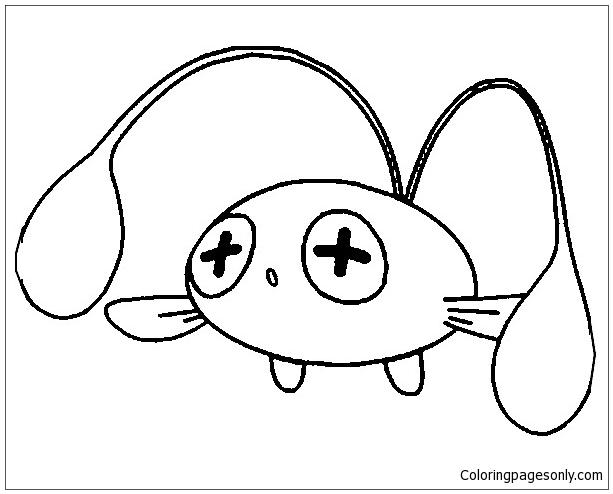 Chinchou Pokemon Coloring Page