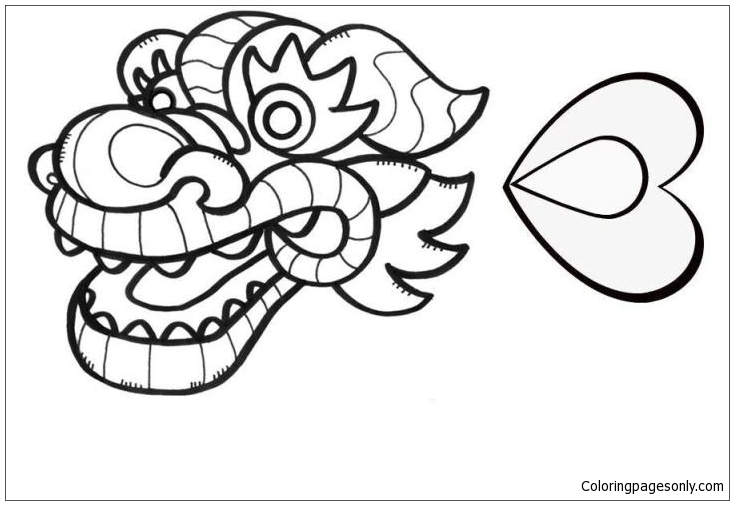 Chinese Dragon Face Coloring Pages Dragon Coloring Pages Free Printable Coloring Pages Online