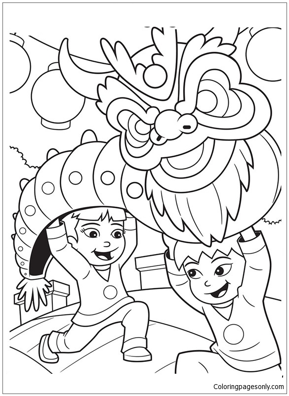 Happy New Year Hello Kitty Coloring Page - Free Coloring Pages Online | 801x585
